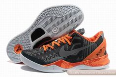 Nike Kobe 8 BHM System Shoes Black Orange Basketball Shoes. More nike kobe 9 shoes for sale,buy cheap kobe shoes at www.24hshoesmall.com