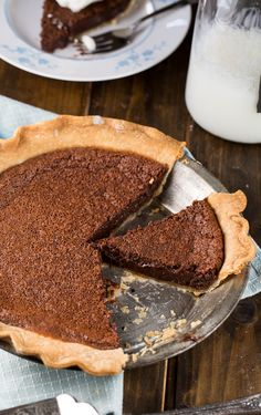 Chocolate Chess Pie! Chess pie is delicious in itself, but add chocolate? Win-Win!