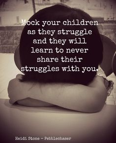 Our children are our future. This new world of letting anyone know everything about you, our example of social media will pave way for how are kids treat the next generation