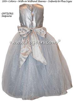 233 best gray flower girl dresses images on pinterest in 2018 custom flower girl dresses in silver and sequins mightylinksfo