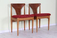 £65  2 X ELLIOTS OF NEWBURY (EON) MID CENTURY TEAK DINING CHAIRS - W 52 - D 43 - H TO SEAT 47 CM