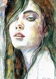 Resultado de imagen para pinturas de rostros en acuarela
