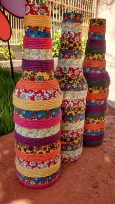Each of these beer bottle handicrafts offer a tons of tips to re-use and reinvent this day-to-day item. Glass Bottle Crafts, Wine Bottle Art, Painted Wine Bottles, Diy Bottle, Bottles And Jars, Beer Bottle, Diy Home Crafts, Jar Crafts, Art N Craft