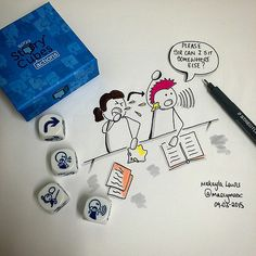 #TodaysDoodle (No. 151) Quick Doodle using Rory's Story Cubes. | Flickr - Photo Sharing!