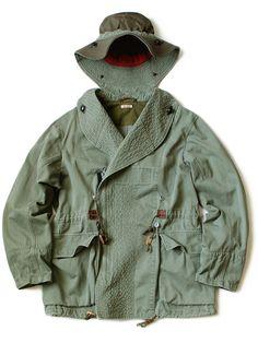 KAPITAL Olive Style, Fishing Jacket, Hunting Jackets, Engineered Garments, School Fashion, Men's Fashion, Vintage Jacket, Outdoor Outfit, Sweater Jacket