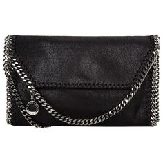 Stella McCartney Falabella Mini Shoulder Bag ($790) ❤ liked on Polyvore featuring bags, handbags, shoulder bags, chain handle handbags, vegan handbags, vegan purses, faux leather handbags and chain strap shoulder bag