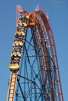 Goliath Six Flags Magic Mountain   fotos de la montaña rusa Goliath en el parque temático Six Flags ...