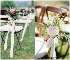 Flores para las sillas de vuestra boda