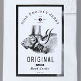 Great packaging and visual identity for Side Project Jerky. Side Project Jerky.