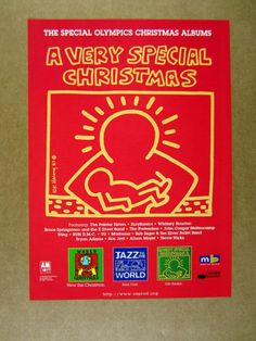 1997 keith haring art 4 christmas album covers vintage print ad ebay