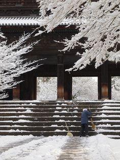 winter morning in Kyoto, Nanzen-ji, Japan