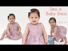 How to Sew a lined bodice Baby girl Dress - 0-3 m Free Pattern - great tutorial . Near the end see how to use the buttonhole footYouTube