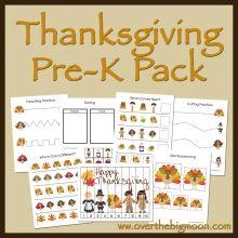 Thanksgiving Pre-K Worksheets