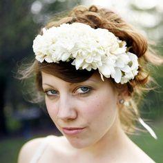 athena - bridal flower crown. $65.00, via Etsy.