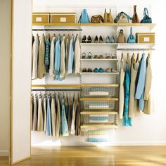 Elfa closet systems make the most out of your closet space Ikea Closet Organizer, Closet Organization, Room Closet, Closet Space, Master Closet, Elfa Closet System, Elfa Shelving, Closet Layout, Montreal Ville