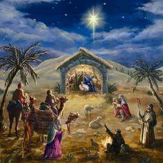 ✞The Voice of Truth ✞ — O Holy Night ~ Jesus Christ is born in Bethlehem. Christmas Jesus, Christmas Nativity Scene, Christmas Scenes, Christmas Pictures, Christmas Art, Nativity Scenes, Image Halloween, Image Jesus, Jesus Christus