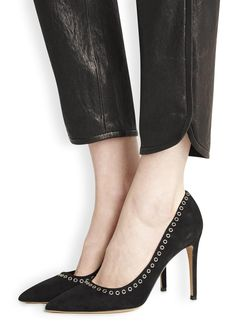 Laurie black suede pumps - Women