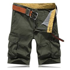 Mens Summer Multi-pocket Solid Color Cargo Pants Casual Cotton Beach Shorts is H. - Mens Summer Multi-pocket Solid Color Cargo Pants Casual Cotton Beach Shorts is H. Mens Knickers, Outdoor Pants, Sport Shorts, Color Shorts, Cargo Pants, Men's Pants, Overall Shorts, Casual Shorts, Men Fashion