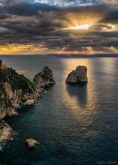 Capri, suggestioni all'alba: cartoline dal belvedere di Punta Cannone