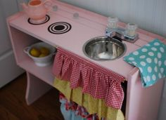 From hutch top to play kitchen.