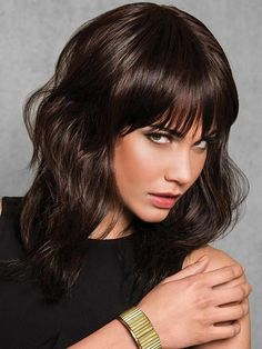 Shop our online store for a selection of bob-cut hair wigs for women. These natural hair and synthetic wigs fit petite, average and large head sizes. Bobbed wig styles include straight, wavy and curly textures in your favorite modern or classic hairstyle. Bobbed Hairstyles With Fringe, Choppy Bob Hairstyles, Straight Hairstyles, Bangs Hairstyle, Pretty Hairstyles, Curly Hair Styles, Natural Hair Styles, How To Cut Bangs, Bobs For Thin Hair