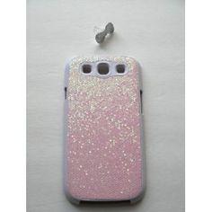 Baby Pink Luxury Bling Rhinestone Splash Bling Hard Plastic Case For SAMSUNG GALAXY S3 / SIII (BONUS: FREE BLING BOW EARPHONE DUST PLUG) $6.32
