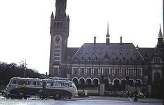 The Peace Palace in The Hague,  Netherlands 1950's
