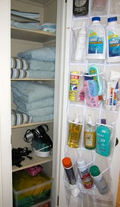 Closet organization. I use this in our camper, works great for sunscreen, bug spray, Band-Aids and flashlights