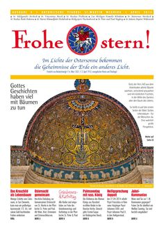 Pfarrbrief St. Martin Wegberg im April 2014. Das Kreuzbild als Lebensbaum. Mehr info: http://homepage.sanktmartinwegberg.de/