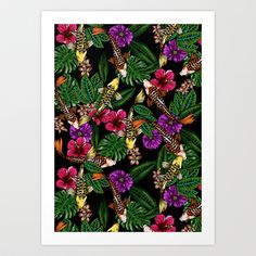 Tropical Koi Art Print by Huebucket - $22.88