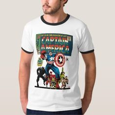 Captain America Comic #100 T-Shirt - tap, personalize, buy right now!