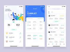 Conceptual design of token app by erics for RaDesign on Dribbble Web Design, Best Ui Design, Ios App Design, Interface Design, Flat Design, Layout Design, Ui Design Mobile, Mobile Application Design, Card Ui