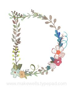 D++Floral+Print+by+Makewells+on+Etsy