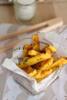 frite de  polenta aux olives noires et épices cajun