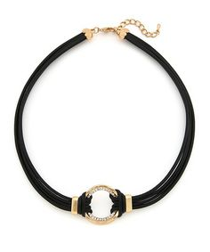 Tribal Seduction Necklace - Black and Gold