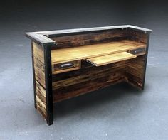 Reclaimed Desk Inside