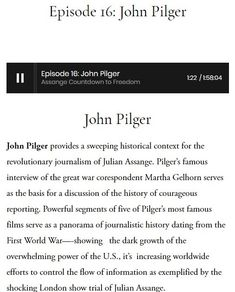Episode John Pilger — Assange Countdown to Freedom