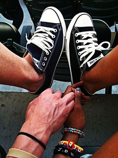 Chucks, bringing interracial couples together one pair at a time. Interacial Love, Interacial Couples, Black Woman White Man, Black Girls, Black Women, My Kind Of Love, We Are The World, The Fault In Our Stars, Couples In Love