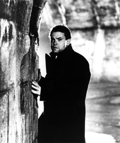 """Orson Welles, """"The Third Man"""". Directed by Carol Reed 1949 Hollywood Actor, Hollywood Stars, Vintage Hollywood, Classic Hollywood, Carol Reed, Joseph Cotten, Mass Culture, Graham Greene, The Third Man"""