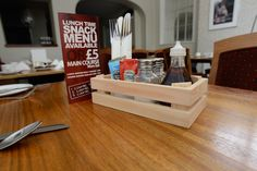 Wooden Condiment Crate (Pack 10) CH11 - www.MAJIsign.co.uk