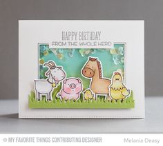 The Whole Herd, Grassy Fields Die-namics, The Whole Herd Die-namics - Melania Deasy  #mftstamps