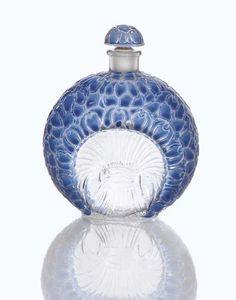 RENE LALIQUE 'La Violette,' An Enameled Glass Perfume Bottle for Gabilla, model introduced 1925