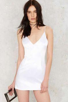 Kristi Satin Mini Dress - Going Out