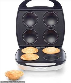 Since Kmart released its pie maker (pictured) over a year ago, home bakers have gone absolutely crazy making all manner of tasty treats Melting Chocolate Chips, Chocolate Chip Muffins, Mini Pie Recipes, Cake Recipes, Babycakes Recipes, Cooking Poached Eggs, Baked Beans On Toast, Doughnuts, Cinnamon Donuts