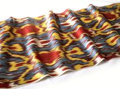 Antique Ikat fabric 3 yard 100 Hand woven. by IkatSuzanicom, $43.50