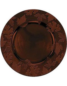 Round Brown Embossed Charger Plate