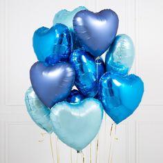 Blue Party Theme Bubblegum Balloons