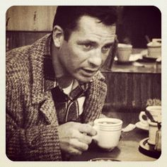 Jack Kerouac and coffee. Beat Generation, Book Writer, Book Authors, Jack Kerouac Quotes, Psychedelic Drugs, Writers And Poets, Beatnik, Human Condition, Library Of Congress