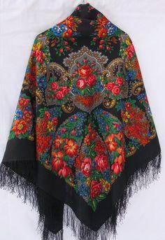 trad Russian shawl wool