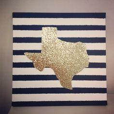 Glitter State Canvas